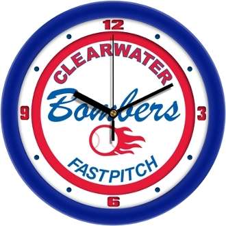 Clearwater Bombers 12in Wall Clock